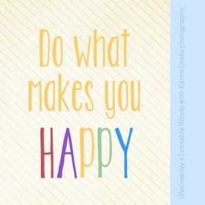 karrie happy words